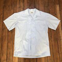 Vintage Mr. California Light Blue Short Sleeve Button Shirt Men's Size Small