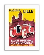 MOTOR SHOW LILLE FRANCE CAR Poster Vintage Exhibition Canvas art Prints