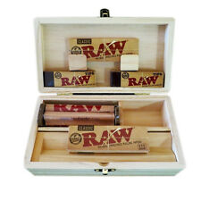 ROLLING TRAY STORAGE STASH BOX 2PKS RAW CLASSIC 1.25 PAPERS 100 Tips RAW ROLLER