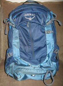 Osprey Stratos Men's 24, Day Hiking Backpack, Eclipse Blue With REI Rain Cover