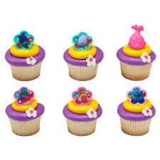 Cake Toppers New Trolls Cupcake Rings Poppy One Dozen