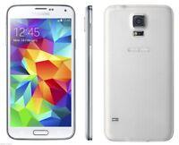 """5.1"""" Samsung Galaxy S5 G900F Libre TELEFONO MOVIL 16GB 16MP 4G LTE Blanco White"""