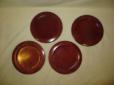 Studio Nova Wood Plate Chargers Set Of 4, Cherry wood, 12 inches