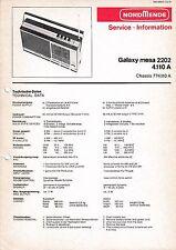 Service Manual-Anleitung für Nordmende Galaxy Mesa 2202 4.110 A