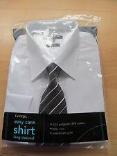 George No Pattern Button Cuff Regular Formal Shirts for Men