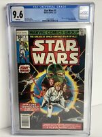 Marvel Star Wars #1 CGC 9.6 NEWSTAND 1st PRINT NM+! White Pages! Vibrant Color!