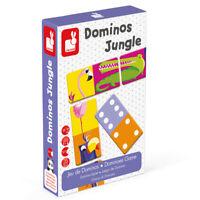 Janod 28 Riesig Dominosteine - Dschungel Passende Bild & Mathe Spiel