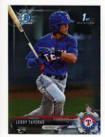 2017 Bowman Chrome LEODY TAVERAS 1st ROOKIE CARD RC #BCP158 Texas Rangers