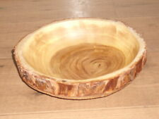RUSTIC WOODEN LARGE BOWL