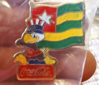 Coca Cola Olympics flag lapel pin pre-owned