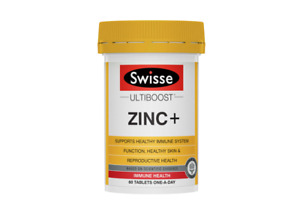 Swisse - Ultiboost Zinc + Immune Health 60 Tablets One A Day