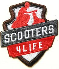 Scooters 4 LIFE Vespa PIAGGIO MOD Scooter Patch Iron on Sew T shirt Badge Emblem