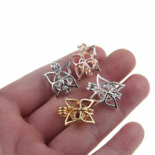 10x Mixed Butterfly Pearl Cage Locket Pendant Essential Oil Diffuser Fun Gifts