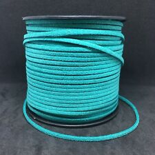 2.5 Meters 3mm Suede Faux Leather Cord Lace String For DIY Jewellery Making Blue