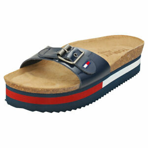 Tommy Jeans Flag Outsole Womens Twilight Navy Mule Sandals - 8.5 US