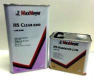Max Meyer 0300 2K Vernice Trasparente Cappotto 5L + RAPIDO Attivatore 2730 2.5L