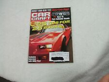 Car Craft Magazine ~ February 2002 ~ Cheap Thrills 25 Tips For 25 Bucks Or Less