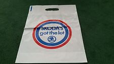 "1988 BIRMINGHAM MOTOR SHOW SKODA ""SKODA'S GOT THE LOT"" UK CARRIER BAG - BROCHURE"