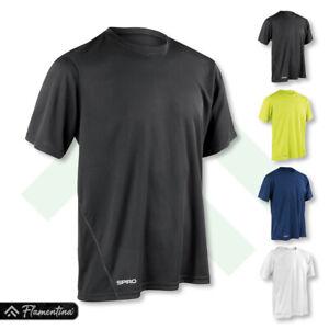 Spiro Mens Quick-Dry Short Sleeve T-Shirt Gym Top Jogging Running Yoga Sports