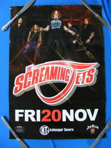 SCREAMING JETS EVENT POSTER 2009 with Unauthenticated Autographs / Signatures.
