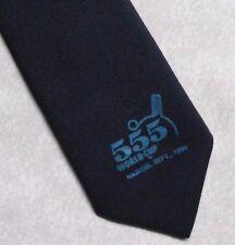 COPPA del mondo di Tennistavolo Tie Retrò Vintage 1989 555 NAIROBI KENYA Navy 1980s