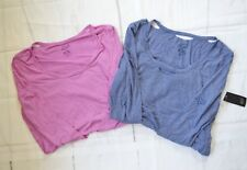 Fox Racing Women's Tailtap Long Sleeve Shirt (2 pcs.) – Lilac & Deep Cobalt sz L
