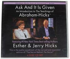 ESTHER & JERRY HICKS Ask & It Is Given Abraham Intro 4-Disc CD SET Audiobook OOP