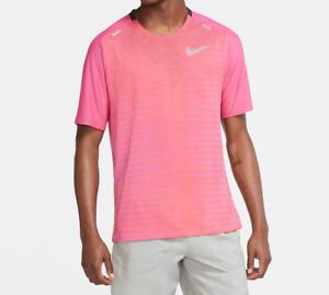 Nike Running Tee Mens Authentic TechKnit Future Fast Run T Shirt Vivid Purple