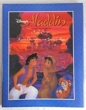 1992 Disneys Aladdin Hardcover Book by AL Singer Pages Printed Upside Down