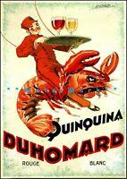 Quinquina Du Homard 1925 Vintage Poster Print Retro Liquor Advert FREE US S/H