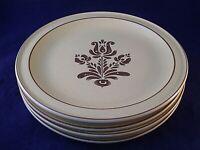 Vintage Pfaltzgraff Village Set of (4) Dinner Plates USA Retro