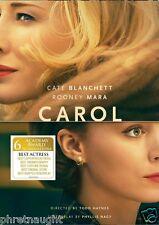CAROL DVD - CATE BLANCHETT - ROONEY MARA - SARAH PAULSON