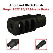 Slip On Set Screws Tightened Ruger 1022 10 22 Muzzle Brake Tanker Style Aluminum