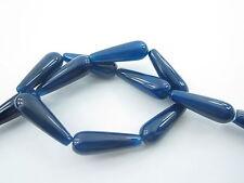 1 pietra goccia in agata striata blu cabochon  misure 30x10 mm prima scelta