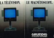 PUBLICITE ADVERTISING   1987   GRUNDIG magnétoscope télévision ( 2 pages)