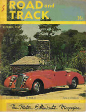 Road & Track 1951 Oct alfa romeo mg humber hawk racing