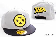 Awesome Marvel's X-MEN symbole Gris & Noir Snapback Cap Hat * NEUF *