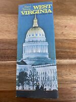 WEST VIRGINIA OFFICIAL HIGHWAY TOURIST MAP ALMOST HEAVEN 1973 VINTAGE TRAVEL