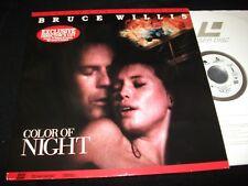 "COLOR OF NIGHT<>BRUCE WILLIS<>2X12"" Laserdiscs<>HOLLYWOOD 2550AS° VG+/LN°NTSC"