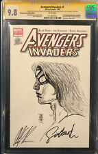 ALEX ROSS signed ORIGINAL ALEX MALEEV Sketch Art CGC 9.8 Avengers Spider-Woman Comic Art