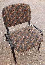 STACKABLE CHAIR, CLOTH COVERED, COMMERCIAL GRADE, METAL FRAME, GREAT CONDITION