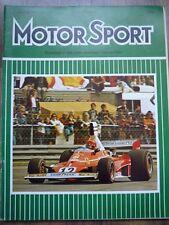 MOTOR SPORT JUL 1975 Swedish GP Ferrari Lancia Monte Carlo Toyota Celica Samuri
