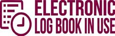 """Set Of 2 MAROON """"ELog Device in Use"""" Electronic Log Book Decal Sticker Truck ELD"""