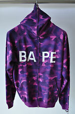 Bape A Bathing Ape Purple Camo Swarovski Nigo OG Full Zip Hoodie L Large
