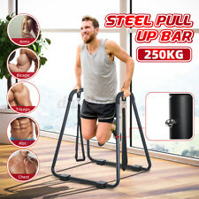 DIP Bar Pull up Stand Chin-up Upper Body Fitness Station Workout Exercise Home
