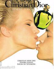 PUBLICITE ADVERTISING 065  1994  DIOR  parfum TENDRE POISON