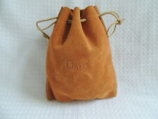 Orvis Leather Drawstring Fishing Reel Pouch / Case....1 of 3.