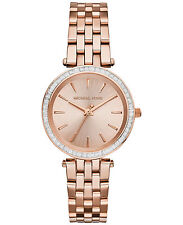 NEW MICHAEL KORS MK3366 LADIES ROSE GOLD MINI DARCI WATCH - 2 YEAR WARRANTY