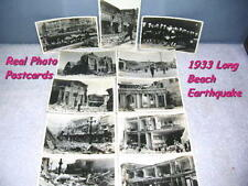 Eleven 1933 Real Photo Postcards, Long Beach Earthquake March 10 1933