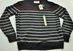 Men's Urban Pipeline sweater size XL gray stripe long sleeve crewneck polyester